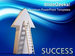 Success Ladder Business PowerPoint Templates And PowerPoint Backgrounds 0411