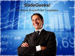Success Man01 Business PowerPoint Background And Template 1210