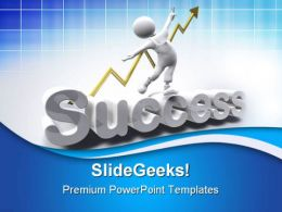 Success Man Business PowerPoint Templates And PowerPoint Backgrounds 0711