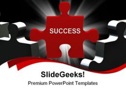 Success Puzzle Business PowerPoint Templates And PowerPoint Backgrounds 0711