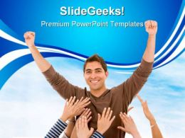 Successfull Man Business PowerPoint Templates And PowerPoint Backgrounds 0511