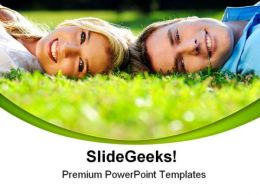 Summer Couple Youth Nature PowerPoint Templates And PowerPoint Backgrounds 0411