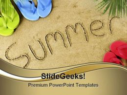 Summer Holidays PowerPoint Templates And PowerPoint Backgrounds 0811