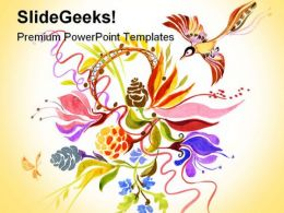 Summer Theme Abstract PowerPoint Templates And PowerPoint Backgrounds 0211