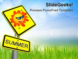 Summer Vacations Holidays PowerPoint Templates And PowerPoint Backgrounds 0611
