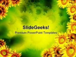 Sunflower Abstract PowerPoint Templates And PowerPoint Backgrounds 0211