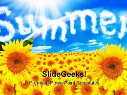 Sunflower Summer Nature PowerPoint Backgrounds And Templates 1210