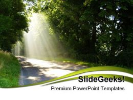 Sunlight Nature PowerPoint Template 1110