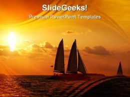 Sunset Sail Holidays PowerPoint Templates And PowerPoint Backgrounds 0811
