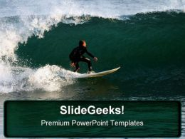 Surf Rider Sports PowerPoint Background And Template 1210