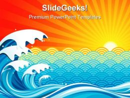 Surf Sun Background PowerPoint Templates And PowerPoint Backgrounds 0511