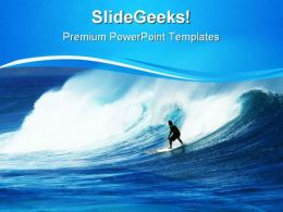 Surfer In Heavy Swells Vacation PowerPoint Templates And PowerPoint Backgrounds 0811