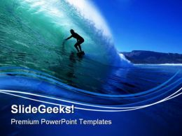 Surfing Beach PowerPoint Templates And PowerPoint Backgrounds 0811