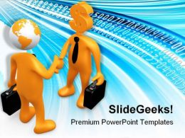 Surfing Business PowerPoint Templates And PowerPoint Backgrounds 0611