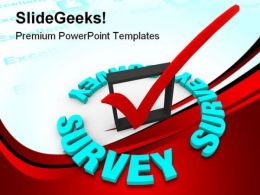 Survey Check Mark Business PowerPoint Backgrounds And Templates 1210