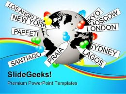 Tagging On World Earth PowerPoint Templates And PowerPoint Backgrounds 0411