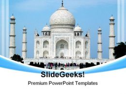 Taj Mahal India Beauty PowerPoint Templates And PowerPoint Backgrounds 0311