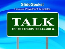 Talk Metaphor PowerPoint Templates And PowerPoint Backgrounds 0911