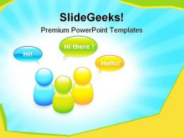 Talking Buddies Internet PowerPoint Templates And PowerPoint Backgrounds 0911