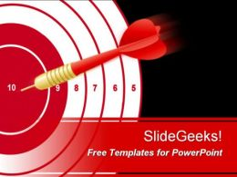 bullseye with red circles and dart target free powerpoint templates ppt themes presentation backgrounds  Presentation Themes and Graphics Slide01