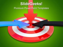 Target And Arrow Business PowerPoint Backgrounds And Templates 1210