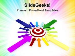 Target And Colorful Arrows Shapes PowerPoint Templates And PowerPoint Backgrounds 0711