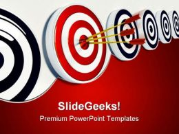 Target And Success01 Business PowerPoint Templates And PowerPoint Backgrounds 0811
