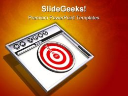 Target Browser Internet PowerPoint Templates And PowerPoint Backgrounds 0811