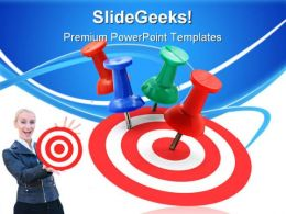 Target Concept Success PowerPoint Templates And PowerPoint Backgrounds 0811