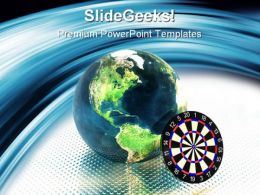 Target Earth Global PowerPoint Templates And PowerPoint Backgrounds 0411
