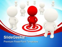 Target Man Business PowerPoint Templates And PowerPoint Backgrounds 0311