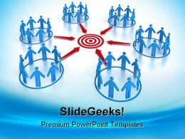 Target People Business PowerPoint Backgrounds And Templates 1210