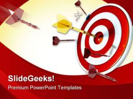 Target Success PowerPoint Template 0910