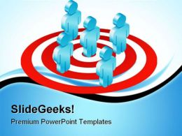 Target Team Business PowerPoint Templates And PowerPoint Backgrounds 0611