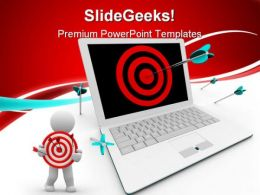 Targeted On Computer Business PowerPoint Templates And PowerPoint Backgrounds 0611