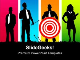 Targeted Teamwork Business PowerPoint Templates And PowerPoint Backgrounds 0811