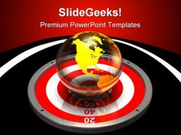 Targeting The World Business PowerPoint Templates And PowerPoint Backgrounds 0511