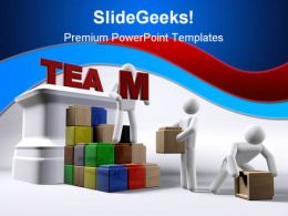 Team Building People Teamwork PowerPoint Template 1110