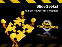 Team Construction PowerPoint Templates And PowerPoint Backgrounds 0711