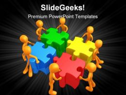 Team Efforts Business PowerPoint Templates And PowerPoint Backgrounds 0811