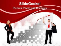 Team Financial Growth Business PowerPoint Templates And PowerPoint Backgrounds 0311