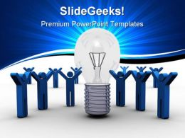 Team Idea Business PowerPoint Background And Template 1210
