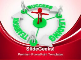 Team Leader Leading Success PowerPoint Templates And PowerPoint Backgrounds 0811