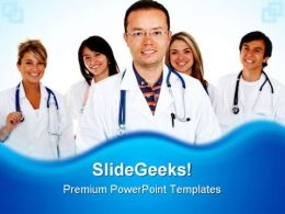 Team Of Doctors Medical PowerPoint Templates And PowerPoint Backgrounds 0511