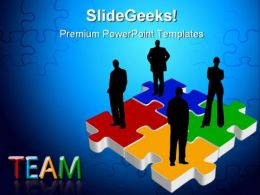 Team On Puzzle Business PowerPoint Templates And PowerPoint Backgrounds 0311