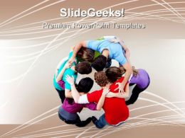 Team People Hugging Business PowerPoint Templates And PowerPoint Backgrounds 0911