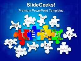 Team Puzzle Business PowerPoint Templates And PowerPoint Backgrounds 0211