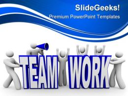 Team Work People PowerPoint Backgrounds And Templates 0111