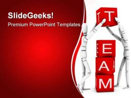 Team Working Together Business PowerPoint Templates And PowerPoint Backgrounds 0811