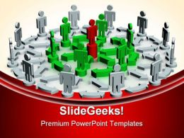 Teamwork01 Leadership PowerPoint Templates And PowerPoint Backgrounds 0611